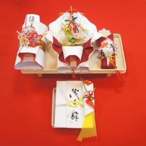 yuinou310 結納品の結納セット 三品目 結納金と指輪と末広のご結納品(長熨斗と目録と毛氈付き) yuinou-mizuhiki