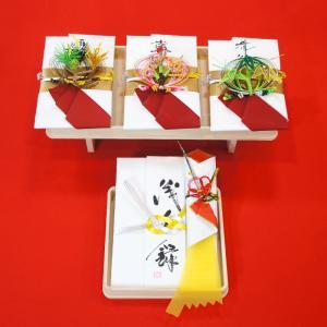 yuinou313 結納品の結納セット 三品目 結納金と酒料と肴料のご結納品(長熨斗と目録と毛氈付き) yuinou-mizuhiki
