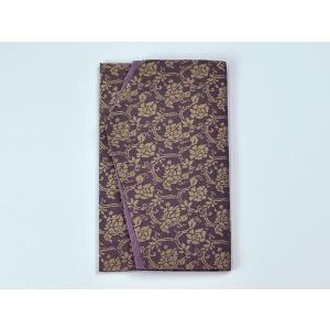 金封袱紗(ふくさ) 正絹名物裂 牡丹唐草(紫)|yuinouyasan