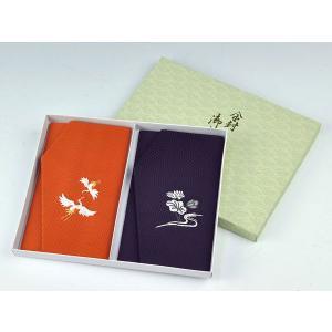 金封袱紗(ふくさ) 慶弔セット かのこ織 鶴・蓮