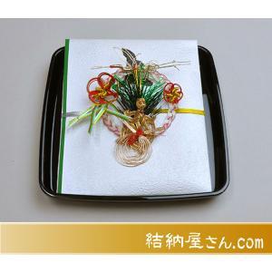 受書 タイプ2 ((結納品に対する受書))(汎用 黒塗角盆) (標準仕様)|yuinouyasan