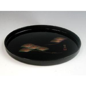 黒塗丸盆|yuinouyasan