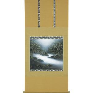 掛軸(掛け軸) 渓流  美濃正堂作 尺八横 約横65×縦138cm【送料無料】p9672|yuinouyasan
