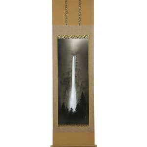 掛軸(掛け軸) 瀑聲  美濃正堂作 尺五立 約横54.5×縦190cm【送料無料】p9674|yuinouyasan