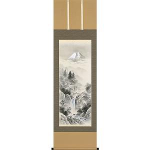 掛軸(掛け軸) 水墨山水  木村挙山作 尺五立 約横54.5×縦190cm【送料無料】p9675|yuinouyasan