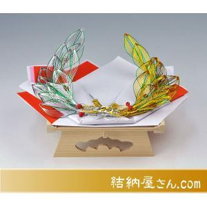 金銀二重月桂指輪・記念品用飾り台(白木台足付)|yuinouyasan