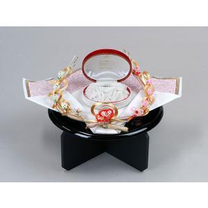 指輪・記念品用飾り台(黒塗盆足付)大和セット用|yuinouyasan