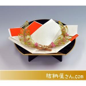 出雲スタイル2指輪・記念品用飾り台 (月桂樹 黒塗り会席盆)|yuinouyasan