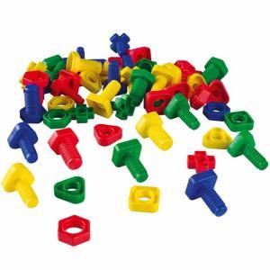 ねじあそび  64ピース(32セット)  educo 指先を使うおもちゃ お徳用 保育園 集団あそび...