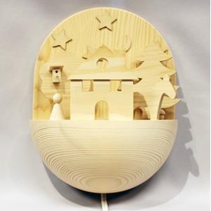 キーナー ナイトランプ  白木 スイス 照明|yukainasakana