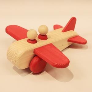 ぼくのひこうき 赤(Air Plane-Red)9612-R/アトリエ・ルーツ(Atelier ROOTS)/黒川昌樹(Masaqui Kurokawa)|yukainasakana