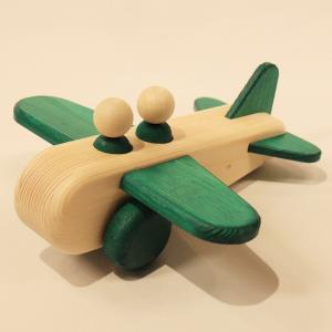 ぼくのひこうき 緑(Air Plane-Green)9612-G/アトリエ・ルーツ(Atelier ROOTS)/黒川昌樹(Masaqui Kurokawa)|yukainasakana
