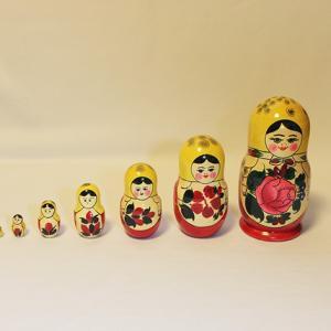 マトリョーシカ 特大7体 ロシアの工芸品|yukainasakana