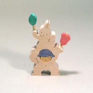 小黒三郎(おぐろさぶろう) 五月人形 KK209 軍配を持つ金太郎とウサギ(小)|yukainasakana
