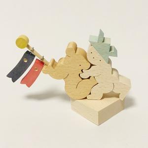小黒三郎(おぐろさぶろう) 五月人形 KK252 坊やとクマと鯉のぼり|yukainasakana