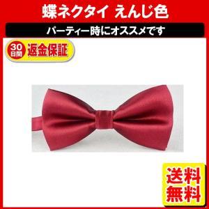 蝶ネクタイ 赤 レッド 無地 ネクタイ 定形外内|yukaiya