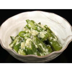 オクラと湯葉の京煮 800g (おくら 秋葵 ゆば ユバ 煮物 惣菜) [冷凍]|yukawa-netshop