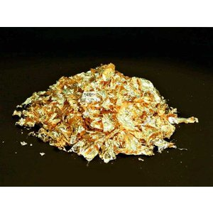 食用 純金箔 荒粉【金粉】 0.3g (食品用 金箔 金 ゴールド 天盛り) [常温限]|yukawa-netshop