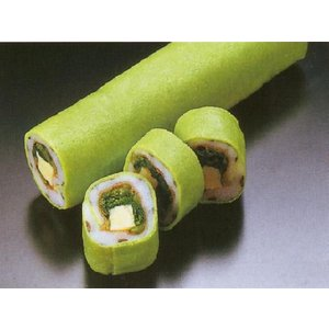 サヨリグリーン巻 3本入 (約3.4×18cm 約200g/本 さより ) [冷凍]|yukawa-netshop