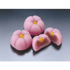 花餅【紅梅】 15入 (はなもち こうばい 赤い梅の花 和菓子 業務用) [冷凍]|yukawa-netshop