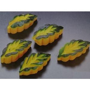 南瓜木の葉 50個入 (約2.3×3×5.8cm/ヶ 約19g/ヶ 南瓜 かぼちゃ 細工) [冷凍]|yukawa-netshop