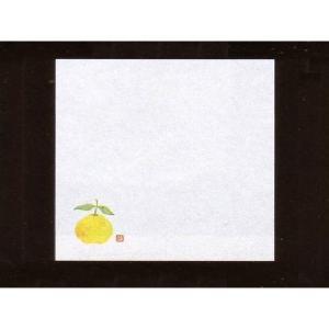4寸雲竜敷紙 ゆず 100枚入 (10月〜12月 柚子 雲竜和紙) [常温限]|yukawa-netshop