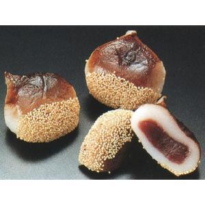 栗もち 15入 (くり 型取 餅 和菓子) [冷凍]|yukawa-netshop