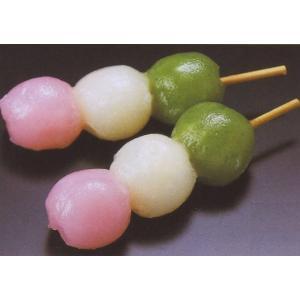 三色花団子 10入 (約2.3×2.7×10cm 約30g/ヶ 花見 串 だんご ダンゴ 3色 和菓子 梱包込重量:約340g 80サイズ8個迄) [冷凍]|yukawa-netshop