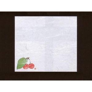 4寸雲竜敷紙 さくらんぼ 100枚入 (4月〜6月 サクランボ 雲竜和紙 65000) [常温限] yukawa-netshop