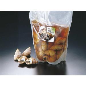 味付ばい貝 小 45粒入 業務用 (固形量600g バイ貝 煮貝 巻貝 総量約1.35kg) [常温]|yukawa-netshop
