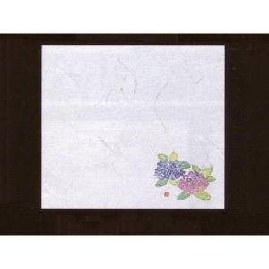 4寸雲竜敷紙 あじさい 100枚入 (6月〜7月 アジサイ 紫陽花 雲竜和紙) [常温限]|yukawa-netshop
