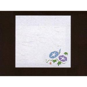 4寸雲竜敷紙 あさがお 100枚入 (7月〜8月 朝顔 アサガオ 雲竜和紙) [常温限]|yukawa-netshop