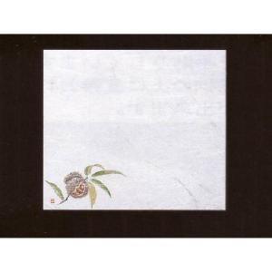 4寸雲竜敷紙 くり 100枚入 (8月〜10月 栗 クリ 雲竜和紙) [常温限]|yukawa-netshop