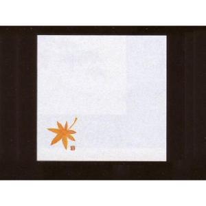 4寸雲竜敷紙 もみじ 100枚入 (10月〜11月 紅葉 椛 モミジ 雲竜和紙) [常温限]|yukawa-netshop