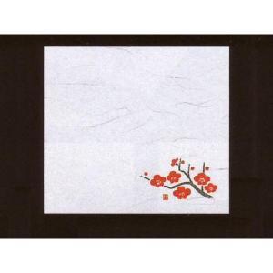 4寸雲竜敷紙 うめ 100枚入 (1月〜3月 梅 ウメ 雲竜和紙) [常温限]|yukawa-netshop