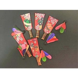 お正月 羽子板飾り 5ケと五色羽根のセット おせち飾り [常温限]|yukawa-netshop