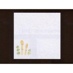4寸雲竜敷紙 つくし 100枚入 (2月〜4月 土筆 雲竜和紙) [常温限]|yukawa-netshop