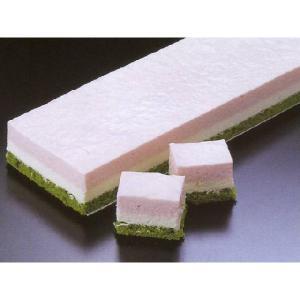 三色ケーキ デザート (イチゴ 抹茶 ケーキ フリーカット) [冷凍]|yukawa-netshop