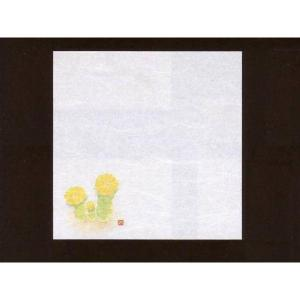 4寸雲竜敷紙 福寿草 100枚入 (1月〜2月 フクジュソウ 雲竜和紙 65108) [常温限] yukawa-netshop