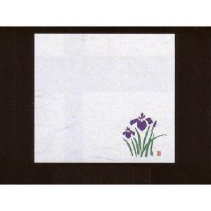 4寸雲竜敷紙 あやめ 100枚入 (4月〜5月 菖蒲 アヤメ 雲竜和紙) [常温限]|yukawa-netshop