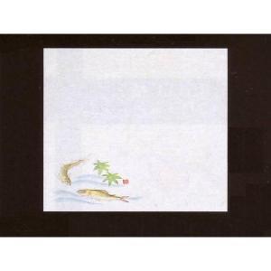 4寸雲竜敷紙 あゆ 100枚入 (4月〜8月 鮎 アユ 香魚 雲竜和紙) [常温限]|yukawa-netshop