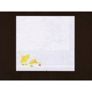 4寸雲竜敷紙 ぎんなん 100枚入 (9月〜11月 銀杏 ギンナン 雲竜和紙) [常温限]|yukawa-netshop