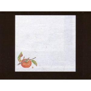 4寸雲竜敷紙 かき 100枚入 (9月〜11月 柿 カキ 雲竜和紙) [常温限]|yukawa-netshop