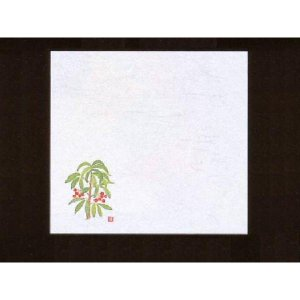 4寸雲竜敷紙 まんりょう 100枚入 (12月〜1月 万両 マンリョウ 雲竜和紙) [常温限]|yukawa-netshop