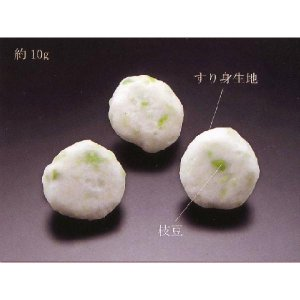 枝豆つみれ 1kg (エダマメ すり身) [冷凍]|yukawa-netshop