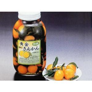 黄金きんかん甘露煮 M 瓶入(約40ヶ入 瓶込:約1.45kg 柑 葉付 瓶詰) [常温]|yukawa-netshop