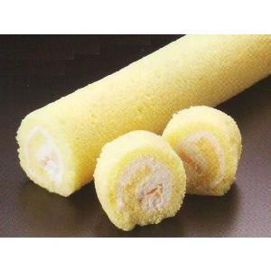 白】 生キャラメルロール 2本入 デザート (ロール ケーキ フリーカット) [冷凍]|yukawa-netshop
