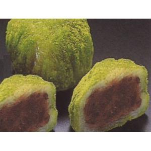 ミニおはぎ 【抹茶】 15入 (直径約3.3x2.5cm 約23g/ヶおはぎ 御萩 まっちゃ 和菓子) [冷凍]|yukawa-netshop