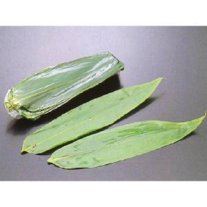 国産 笹の葉 【軸なし】100枚入 (約7〜8x25〜30cm/枚 ささのは 緑色 枝なし) [常温]|yukawa-netshop