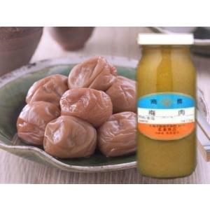 梅肉 【白】無着色 300g 瓶入(瓶込:約550g 国産 うめ ばいにく しろ) [常温]|yukawa-netshop
